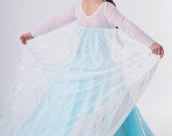 Elsa inspired costume Frozen dress 3t satin style skirt