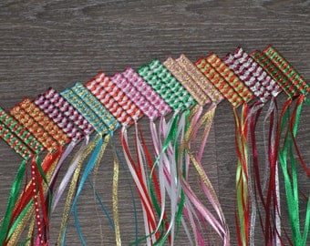 Holiday Braided Ribbon Barrettes - Set of 2
