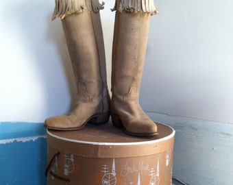 60s wrangler suede western boots size 6