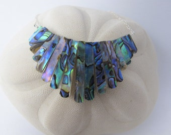 Graduated Paua Abalone Shell Necklace