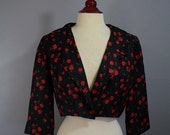 80s All-Over Rose Jacket- Large