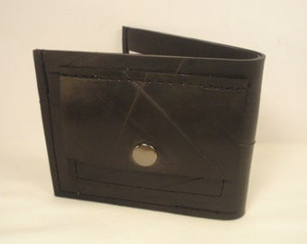 Recycled Rubber Bifold Wallet with Change Purse