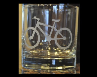 Mountain Bike Rocks Etched, Sand Carved for Cyclists, Mountain Bikers, Extreme Sportsman  by Jackglass on Etsy