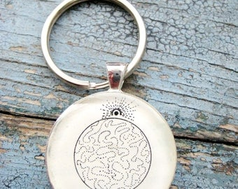 Interphase Mitosis Cell Cycle Silver Keychain/Pendant Series