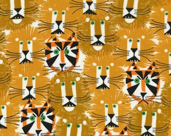 Cloud 9 Fabrics - Happy Drawing by Ed Emberley - Lions and Tigers Organic