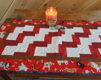 Quilted Table Runner - Dogs Rule