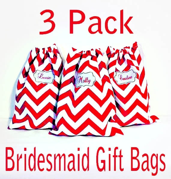 Bridesmaid Gift Bags, 3 Pack Personalized Shoe Bags, Matching Drawstring Bags, Bridesmaid Gifts, Makeup Bag, 48 Patterns to choose from