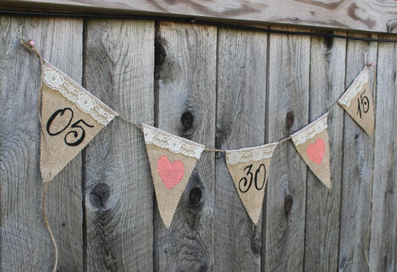 burlap and lace wedding banner, save the date banner, Custom Wedding Banner, Photo banner, Rustic Wedding Date Banner