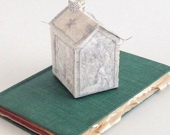 House on a Book - Christmas Nativity Scene Altered Book - OOAK