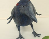 A Black Crow in Paper Mache
