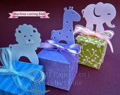 Animal (Elephant Lion Giraffe Bear Duck) - Paper Gift Box Die Cutting with SVG files and PDF instructions for Silhouette and Cricut machines