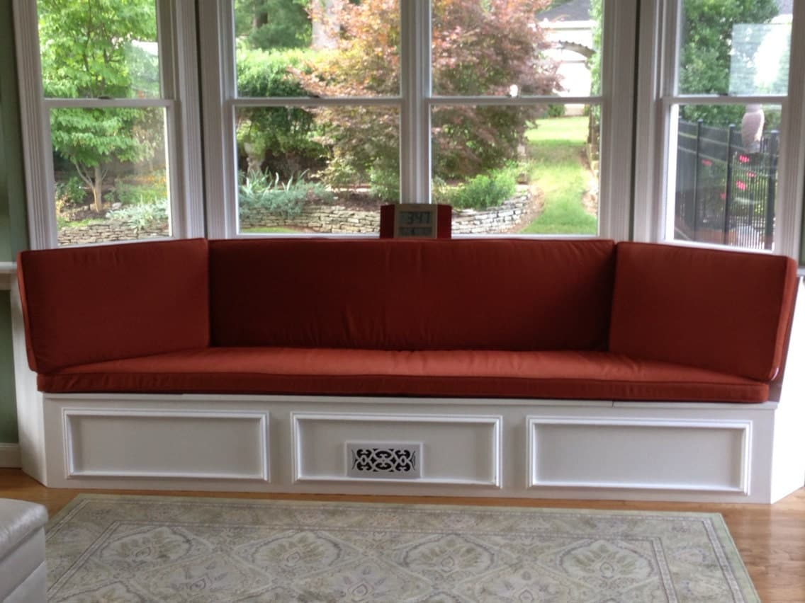 Custom writing bay window bench seat