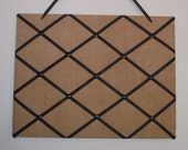 Burlap with black  French Memo Board - Photo Memo Board