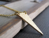 Lightning Bolt Necklace, Gold Geometric Necklace Pendant,  Modern Night Sky Pendant - LIGHTNING