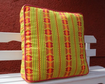 Was 118 now on clearance Oversized Soft Mexican woven Floor Cushion or bed ped Pouf  Ready To Ship