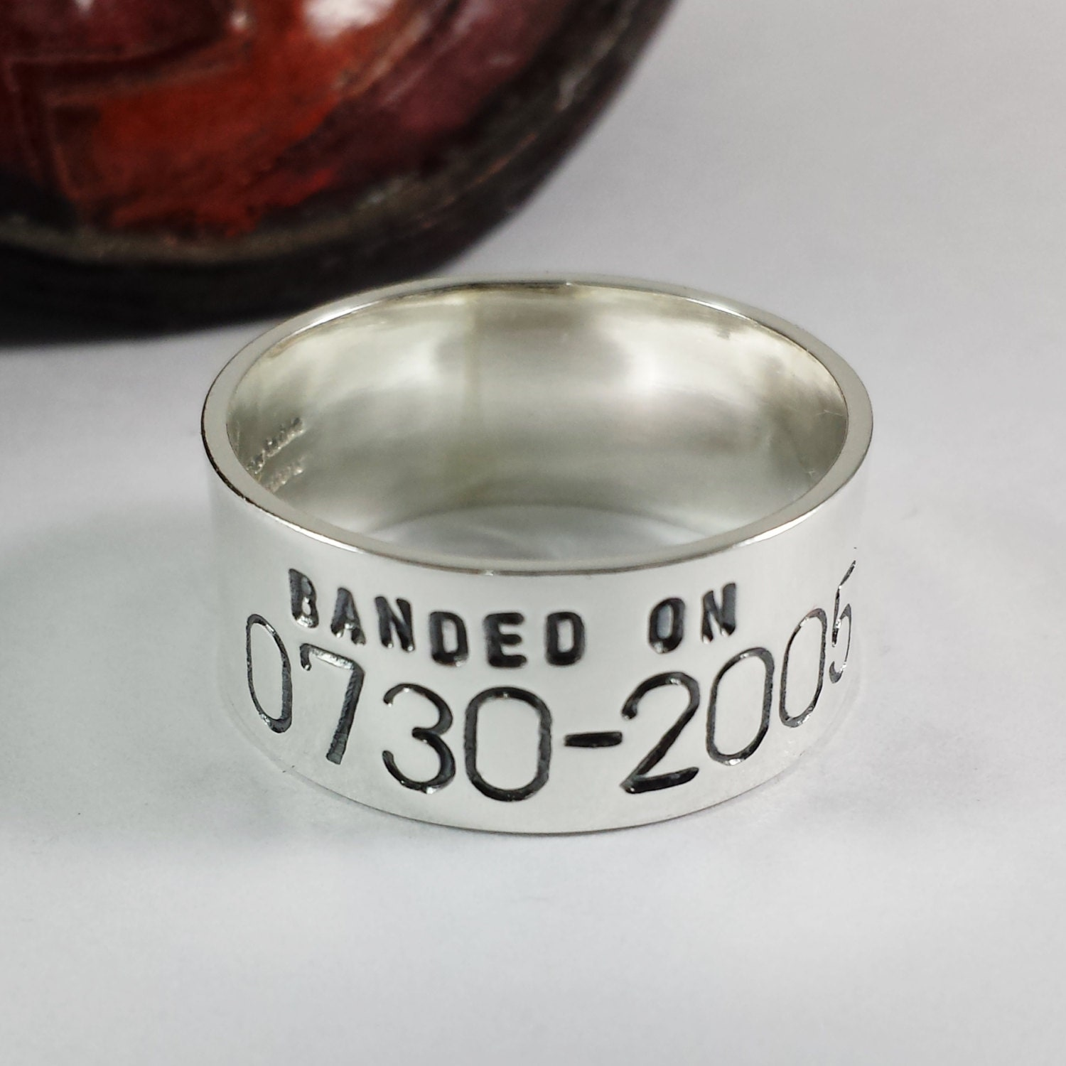 Custom Personalized Duck Band Ring  Hand Stamped Wedding Ring  Custom  Bird Band  Sizes