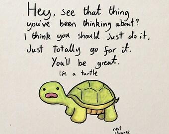 Turtle Advice A4/A5 Digital Print