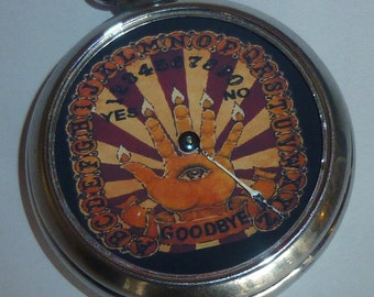 Vintage 1960's OUIJI occult Fortune prediction Future Pocket watch Game OUIJA