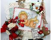 Lots of Love - OOAK Handmade Greeting Card