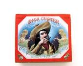 Vintage Cigar Tin Case Dick Custer Wild West Collectible