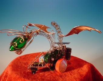 Solar Powered Art Bot - The Green Dragon