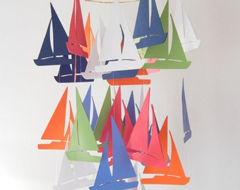 Sailboat Nautical Nursery Mobile
