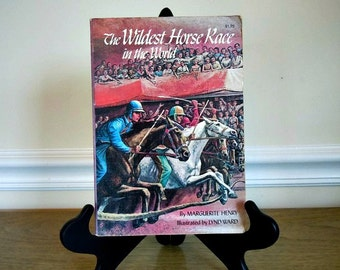 Vintage Children's Book, Marguerite Henry, Paperback, Horses, The Wildest Horse Race in the World