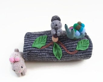 Hollow Log Animal Home, waldorf toy, all natural toy, eco friendly toy, log only, stuffed animal, stuffed toy