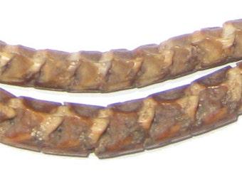 130 Real Snake Vertebrae Beads from Africa - African Bone Beads - Natural African Snake Beads - Made in Niger ** (SNAKE-REAL-202)