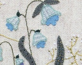 Jacobean Flower Wool Applique, Hand Embroidery / Pattern / Jac 006