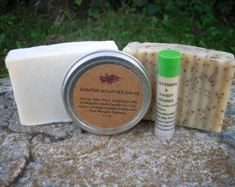 Winter Skin Care Set, Body Care Gift Set, Soap Gift Set, Goat Milk Soap