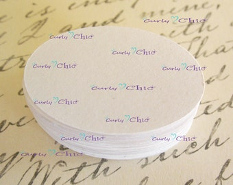 """120 Oval Cardstock Die cut Size 1 3/4"""" -Oval Circles tags -Paper Oval labels -Cardstock Oval die cuts"""