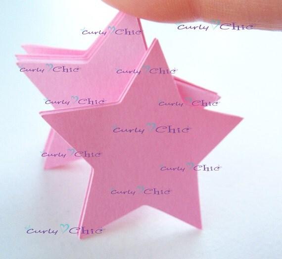 """45 Stars Tag Size 2"""" -Stars die cuts -Paper Start tags -Cardstock Stars die cuts -Paper Stars labels -Paper tags"""