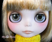 New Soft Resin OOAK REALISTIC custom Blythe eye chips set C24, by Ana Karina. UV laminated