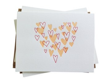 Heart of Hearts letterpress card - set of six