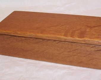 Handcrafted Reclaimed Quartersawn Oak Wood Box