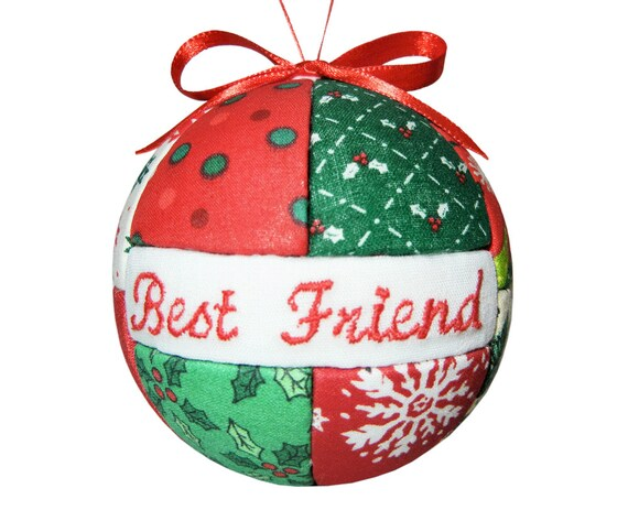 Best friend handmade christmas ornament red and green ornament for Best handmade christmas ornaments