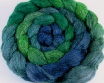 Spinning Fiber - Baby Alpaca Combed Top / Roving - Evergreen