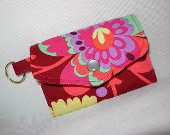 Card Case Key Ring Tri Fold Amy Butler Love Fabric