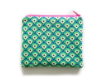 Zipper Pouch - Peacock Floral - Available in Small / Large / Long