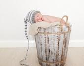 KNITTING PATTERNS -  newborn photo props- 'little elfkin' - newborn size