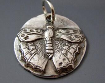 Silver Butterfly Pendant - Fine Silver