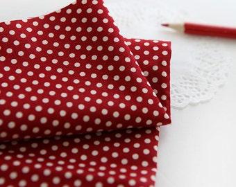 Petit Dots on Red cotton, U033