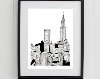 Chrysler Building, New York Print