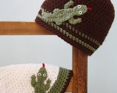 Lizard Hat,Salamander, Gecko, Crochet Beanie, Boys, Girls, Men, Women, Holiday Gift, Animal Beanie, Crochet Lizard, Funny Hat, Children Gift