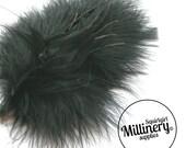 Marabou, Goose & Biot Feather Black Fascinator Hat Mount Trim for Millinery