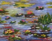 Water Lilies - Original Large Acrylic Painting