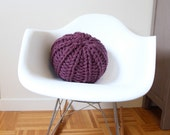 Small knit pouf