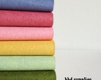 Wool Garden - Wool Blend Felt Sheets - 6 sheets