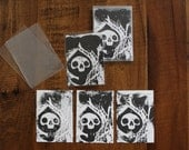 Baby Death Linocut Block Print Trading Card